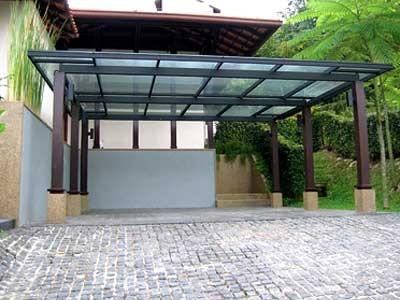 glass skylight, car porch skylight