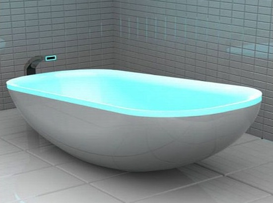 bathtub, designer bathtub, glowing bathtub