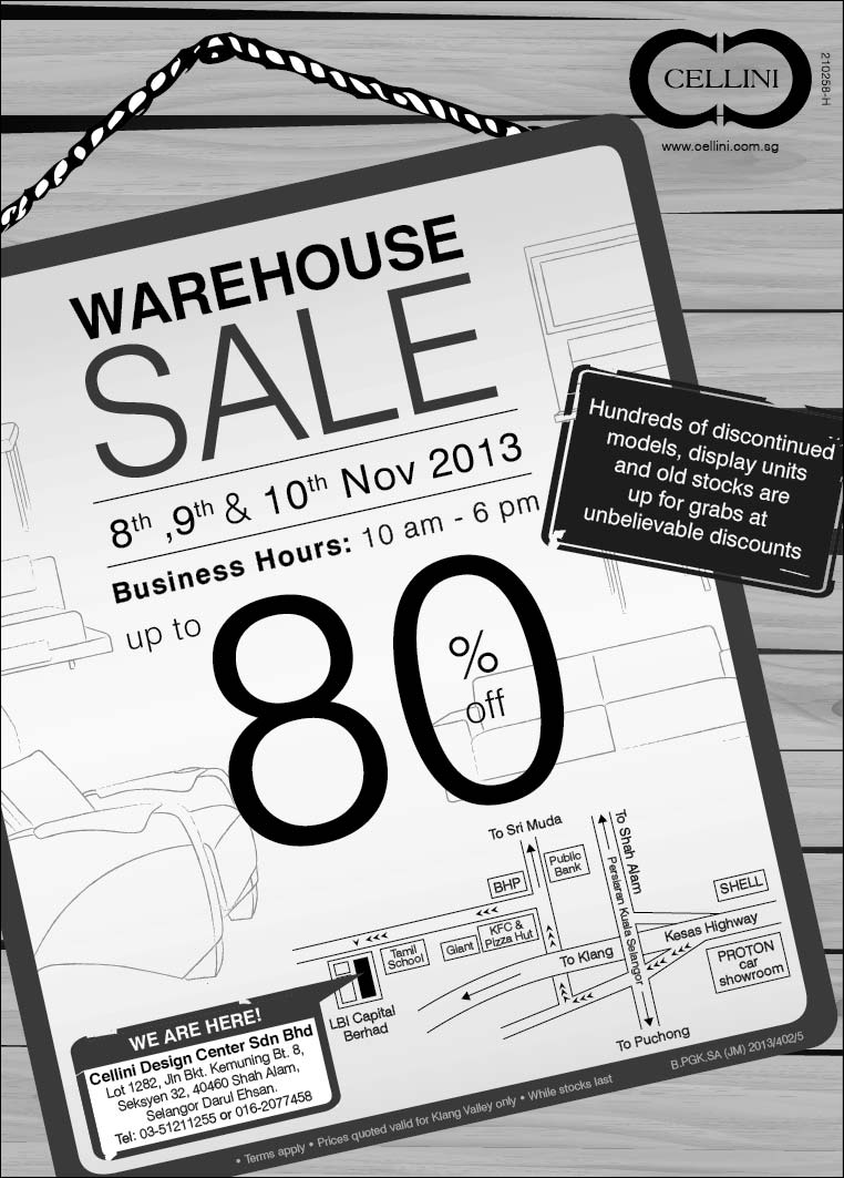 Cellini Warehouse Sale