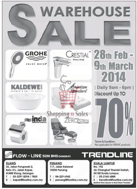 flow line warehouse sale