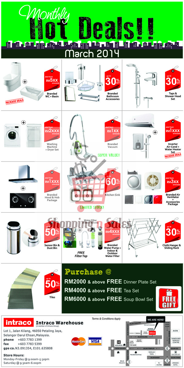 intraco warehouse 2014 march sale
