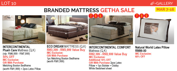 Renosaw iSetan Branded Mattress Getha Sales