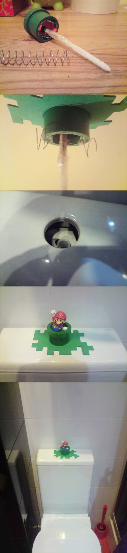 Super Mario Toilet Job