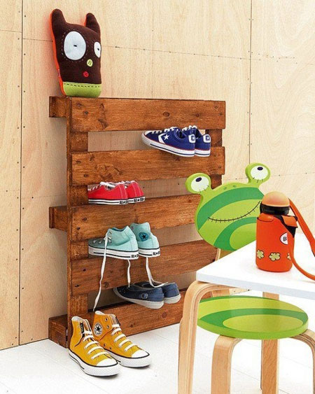 Kids will love this shoe rack
